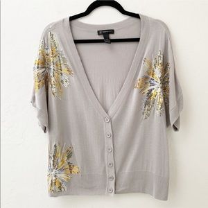 INC Cardigan Short Sleeves Fashion Sequins
